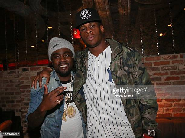 Wale and Geno Smith attend Wale's Wrkng Title Collection Event at Manon on April 8 2014 in New York City