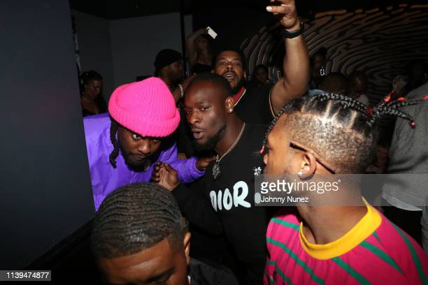 Wale and Le'Veon Bell host the NFL Draft Viewing Party at Pomona on April 25, 2019 in New York City.
