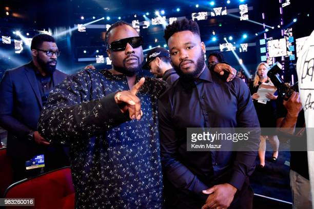 Wale and Ryan Coogler attend the 2018 BET Awards at Microsoft Theater on June 24 2018 in Los Angeles California