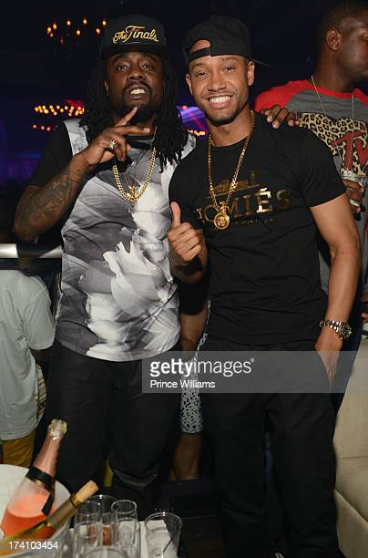 Wale and Terrence J attend Wale and Terrance J Host Party at Prive on July 19 2013 in Atlanta Georgia