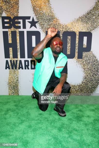 Wale arrives at the BET Hip Hop Awards 2018 at Fillmore Miami Beach on October 6 2018 in Miami Beach Florida