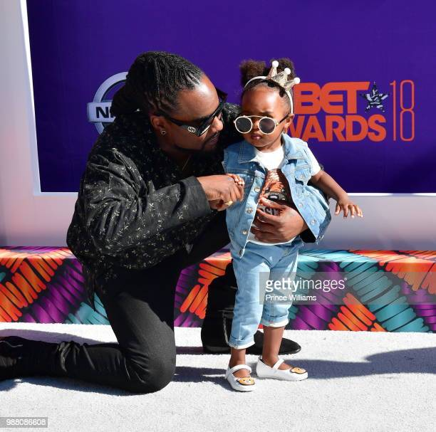Wale arrives to the 2018 BET Awards held at Microsoft Theater on June 24 2018 in Los Angeles California