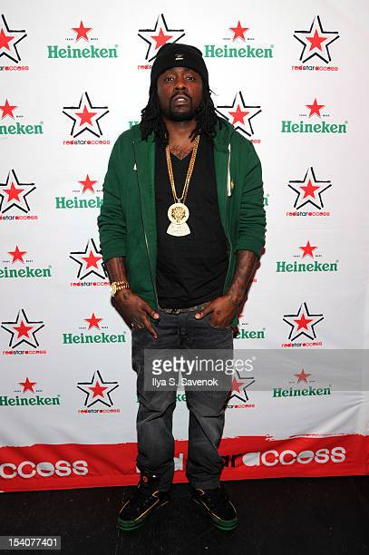 Wale attends Heineken Red Star Access Philadelphia featuring Nas Wale and QTip at The Electric Factory on October 13 2012 in Philadelphia Pennsylvania