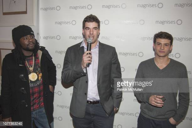 Wale Billy McFarland and Trevor Gopnik attend Wale performs at Magnises Holiday Party at Magnises House Soho on December 14 2013 in New York City