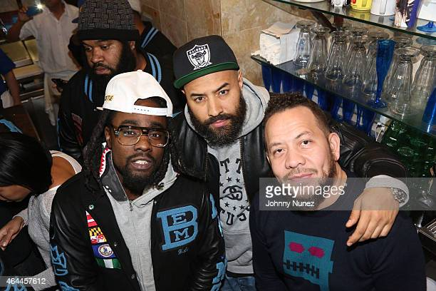 Wale Ebro and Elliott Wilson attend 'The Album About Nothing' Release Party on February 25 2015 in New York City