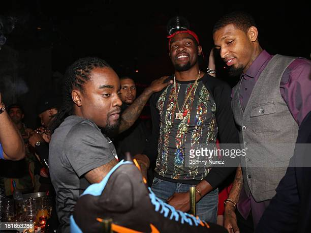 Wale Kevin Durant and Cliff Dixon attend Kevin Durant's 25th Birthday Party Avenue Club on September 22 2013 in New York City
