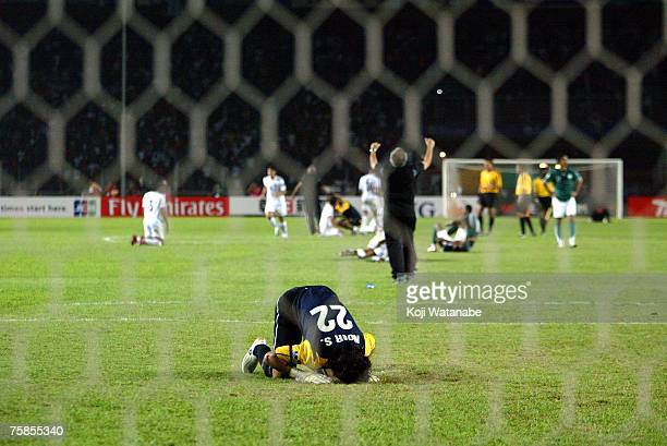 Waleed Abdullah of Iraq celebrates winnig the AFC Asian Cup 2007 final between Iraq and Saudi Arabia at Gelora Bung Karno Stadium on July 29 2007 in...