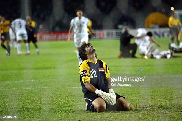 Waleed Abdullah of Iraq celebrates winning the AFC Asian Cup 2007 final between Iraq and Saudi Arabia at Gelora Bung Karno Stadium on July 29 2007 in...