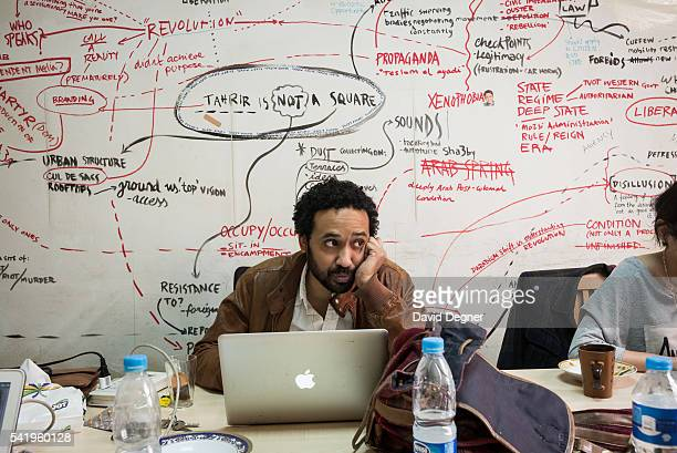 Waleed Almusharaf the new opinion editor of Mada Masr works in their office on January 25 2015 in Cairo EgyptMada Masr is a Cairobased independent...