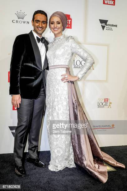 Waleed Aly and Susan Carland arrives at the 59th Annual Logie Awards at Crown Palladium on April 23 2017 in Melbourne Australia