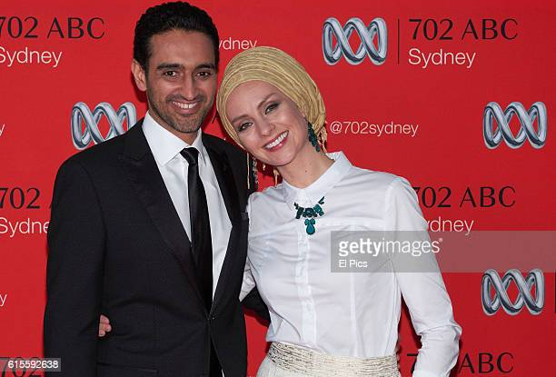 Waleed Aly and wife Susan Carland attend the 2016 Andrew Olle Media Lecture on October 14 2016 in Sydney Australia