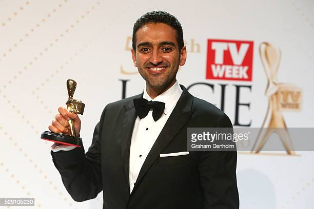 Waleed Aly poses with the Gold Logie Award for Best Personality On Australian TV during the 58th Annual Logie Awards at Crown Palladium on May 8 2016...