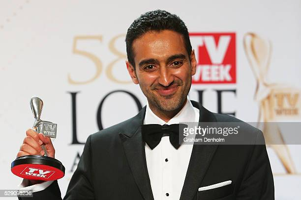 Waleed Aly poses with the Silver Logie Award for Best Presenter 'The Project' during the 58th Annual Logie Awards at Crown Palladium on May 8 2016 in...