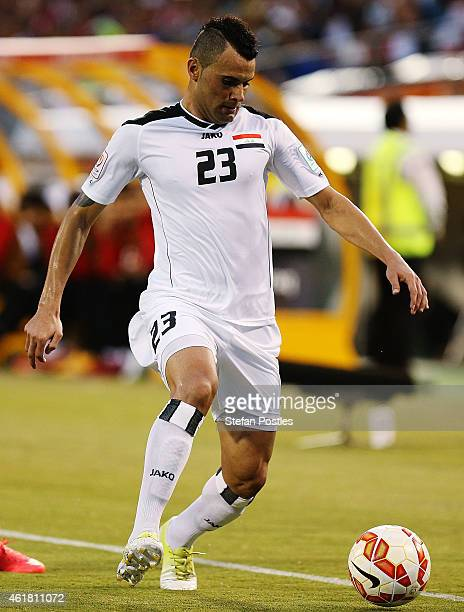 Waleed Salim AlLami of Iraq in action during the 2015 Asian Cup match between Iraq and Palestine at Canberra Stadium on January 20 2015 in Canberra...