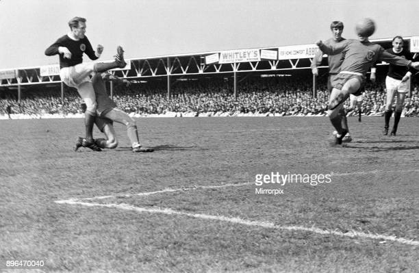 Wales 35 Scotland British International Championship match at the Racecourse Ground Wrexham Billy McNeill of Scotland has all the time in the world...