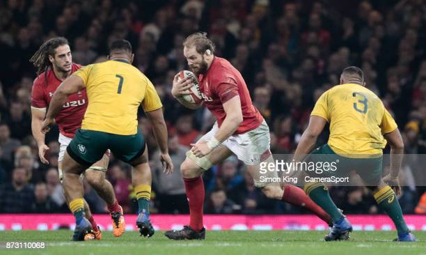 Wales' Alun Wyn Jones during the 2017 Under Armour Series match between Wales and Australia at Principality Stadium on November 11 2017 in Cardiff...