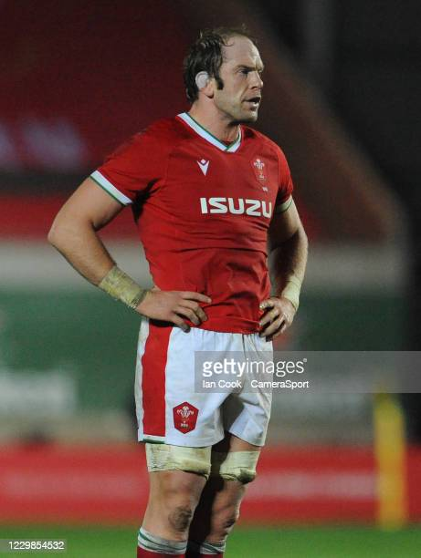 Wales Alun Wyn Jones during the Quilter International match between Wales and England as part of the Autumn Nations Cup at Parc y Scarlets on...