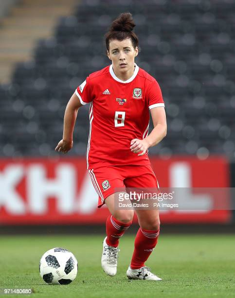 Wales Angharad James during the 2019 FIFA Women's World Cup qualifying group 1 match at the Liberty Stadium Swansea