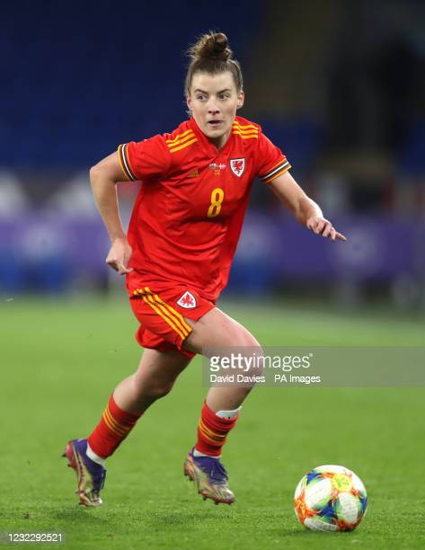 Wales' Angharad James during the women's international friendly match at Cardiff City Stadium, Cardiff. Picture date: Tuesday April 13, 2021. See PA...