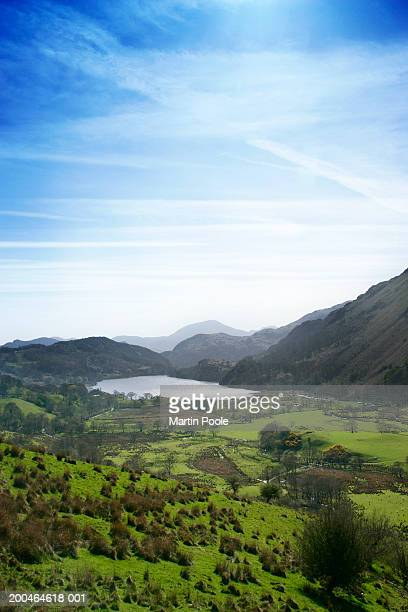 UK, Wales, Capel Curig, view through valley towards Llyn Ogwen