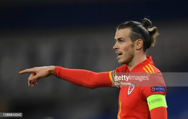 Wales captain Gareth Bale in reacts during the UEFA Nations League group stage match between Wales and Republic of Ireland at Cardiff City Stadium on...