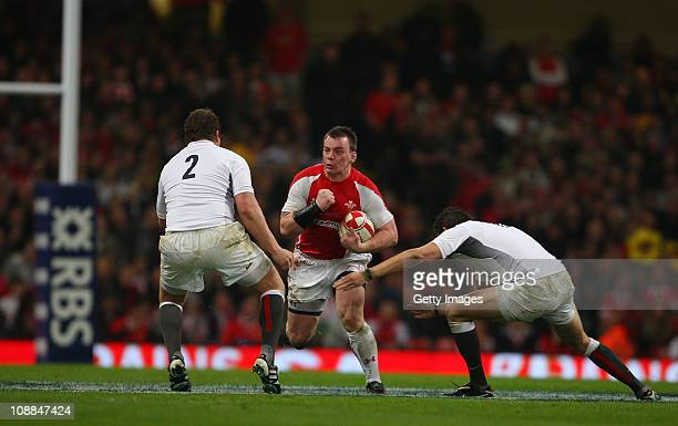 Wales captain Matthew Rees competes during the RBS 6 Nations Championship match between Wales and England at the Millennium Stadium on February 4...