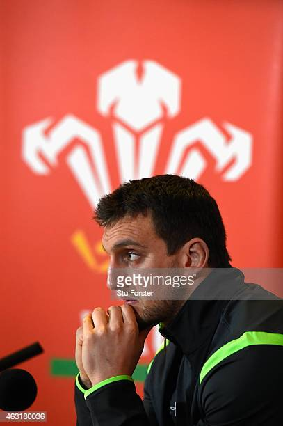 Wales captain Sam Warburton faces the media at the Wales press conference ahead of saturdays upcoming RBS Six Nations match against Scotland at the...