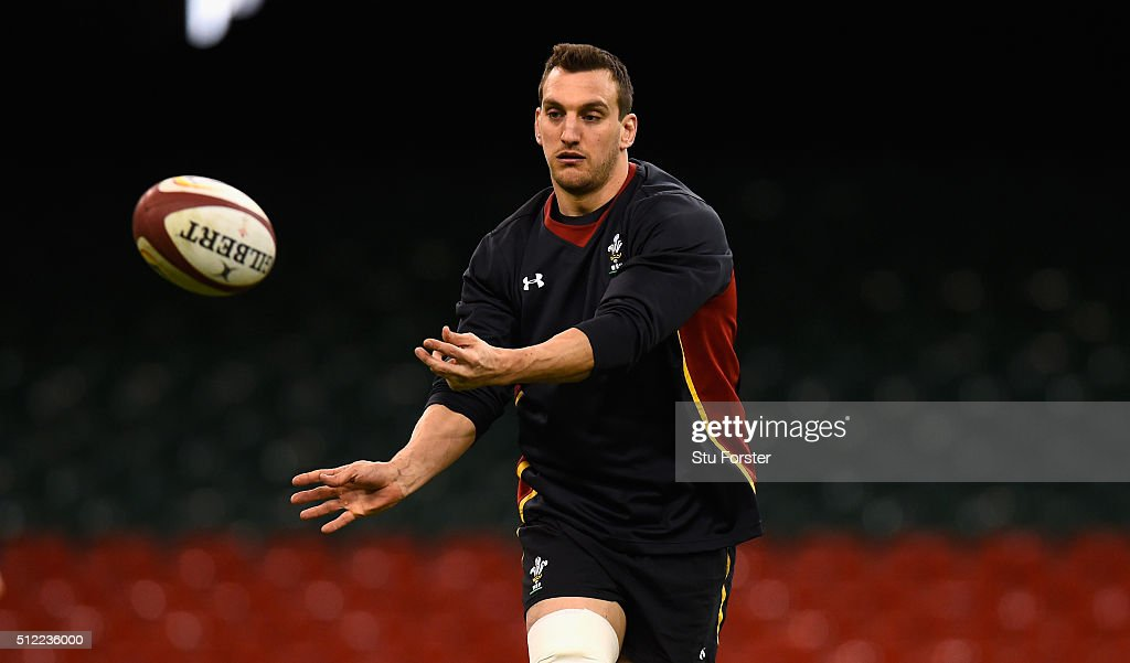 Wales captain Sam Warburton in action during the Wales captain's run ahead of their RBS Six Nations match against France at Principality Stadium on February 25, 2016 in Cardiff, Wales.