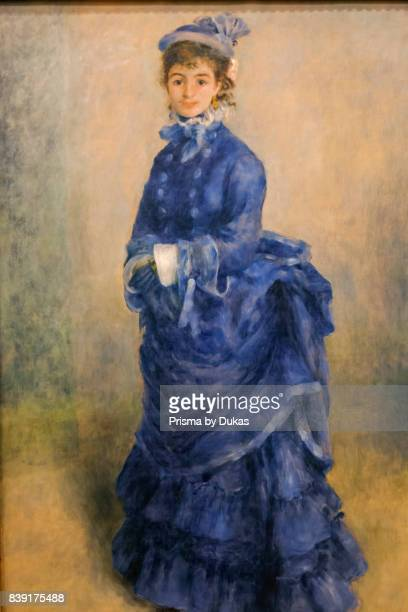 Wales Cardiff National Museum Cardiff Painting titled La Parisienne by PierreAuguste Renoir dated 1874