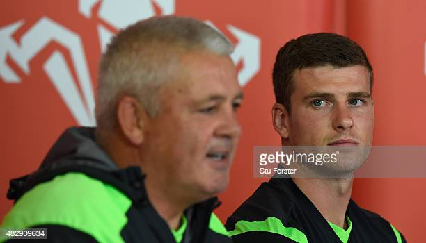 Wales coach Warren Gatland and captain Scott Williams face the media ahead of saturdays World cup warm up match against Ireland at the Vale Hotel on...