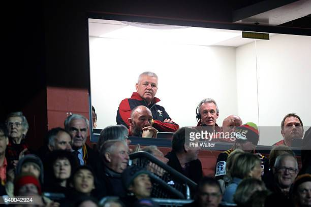 Wales coach Warren Gatland during the International Test match between the Chiefs and Wales at Waikato Stadium on June 14 2016 in Hamilton New Zealand