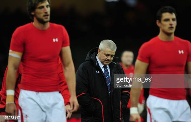 Wales coach Warren Gatland looks on before the International match between Australia and Wales at Millennium Stadium on December 1 2012 in Cardiff...