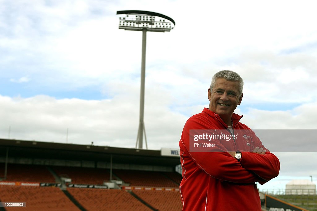 Wales coach Warren Gatland pictured during the Wales Captain's Run at Waikato Stadium on June 25, 2010 in Hamilton, New Zealand.
