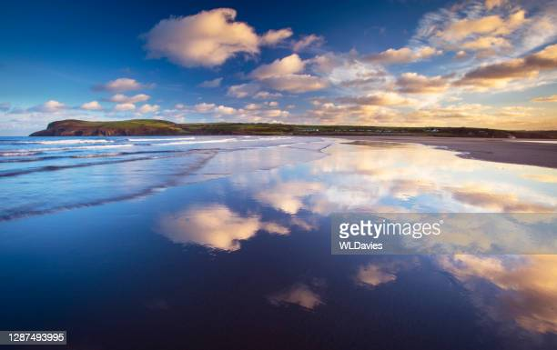 wales coastline - newport wales stock pictures, royalty-free photos & images