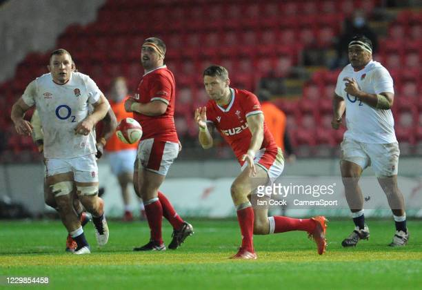 Wales Dan Biggar during the Quilter International match between Wales and England as part of the Autumn Nations Cup at Parc y Scarlets on November...