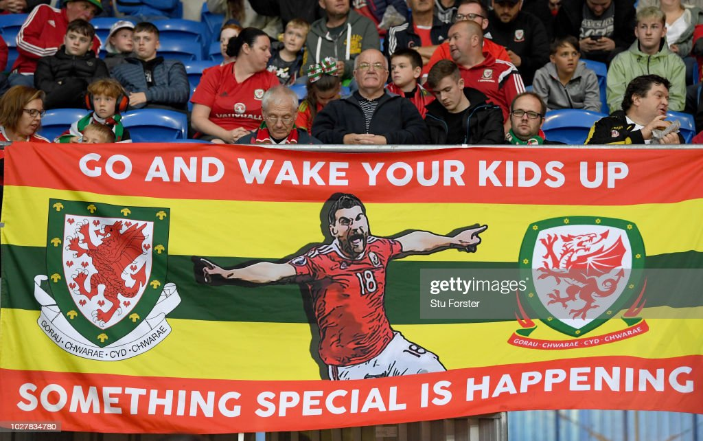 Wales Fans Display A Banner Prior To The Uefa Nations League B Group News Photo Getty Images