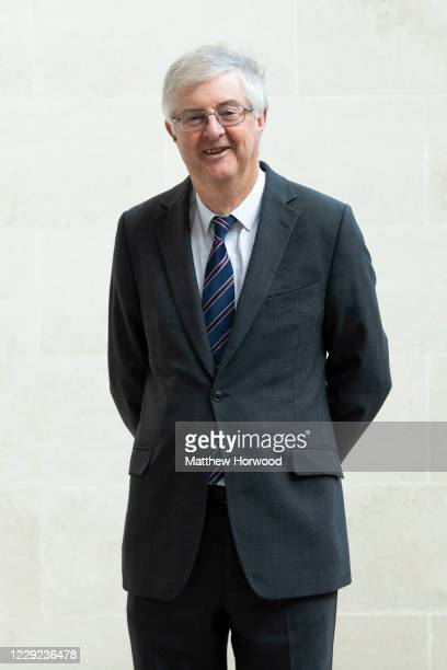 Wales First Minister Mark Drakeford poses for a photograph on October 23, 2020 in Cardiff, Wales. Wales will go into a national lockdown from Friday...