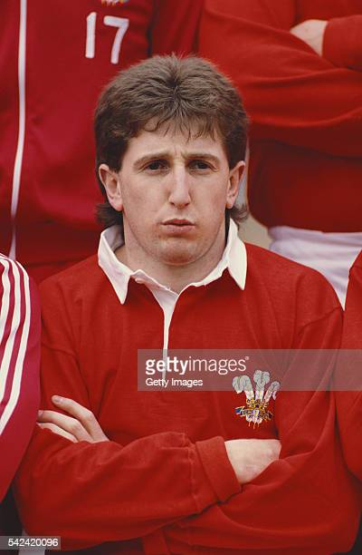 Wales fly half Jonathan Davies pictured prior to a Five Nations match against Ireland at Lansdowne Road on March 5 1988 in Dublin Ireland