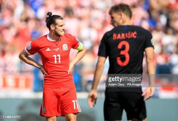 Wales' Gareth Bale rues a missed chance during the UEFA Euro 2020 Qualifying Group E match at Stadion Gratski Vrt Osijek