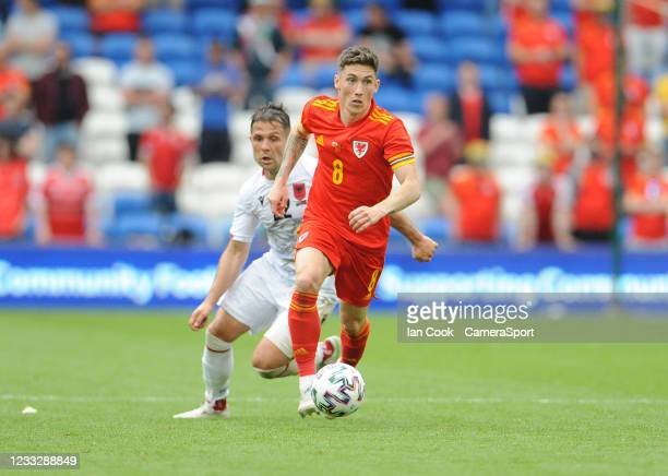Wales Harry Wilson during the International friendly match between Wales and Albania at Cardiff City Stadium on June 5, 2021 in Cardiff, Wales.
