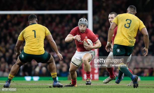 Wales' Jonathan Davies during the 2017 Under Armour Series match between Wales and Australia at Principality Stadium on November 11 2017 in Cardiff...