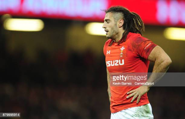 Wales' Josh Navidi during the 2017 Under Armour Series Autumn International match between Wales and New Zealand at Principality Stadium on November...
