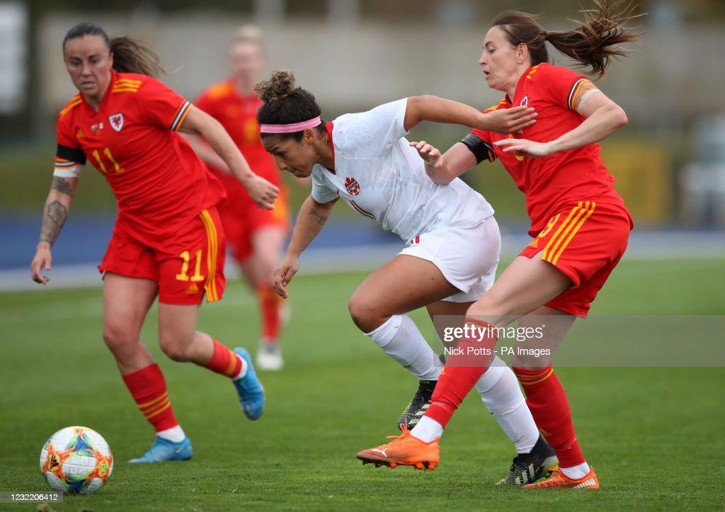 Wales v Canada - Women's International Friendly - Leckwith Stadium : News Photo