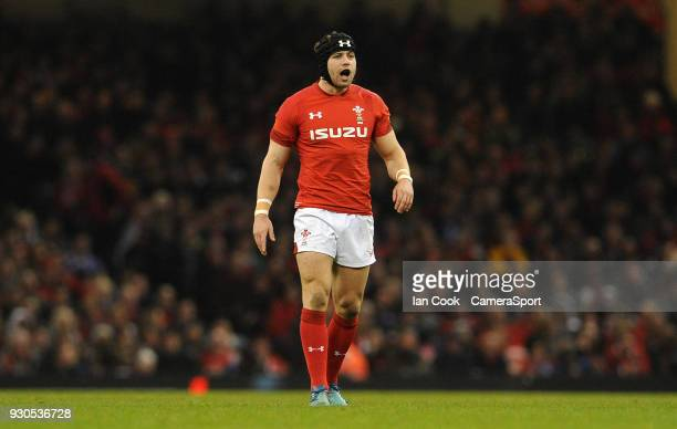 Wales Leigh Halfpenny in action during the NatWest Six Nations Championship match between Wales and Italy at Principality Stadium on March 11 2018 in...