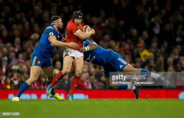 Wales' Leigh Halfpenny in action during todays match during the NatWest Six Nations Championship match between Wales and France at Principality...