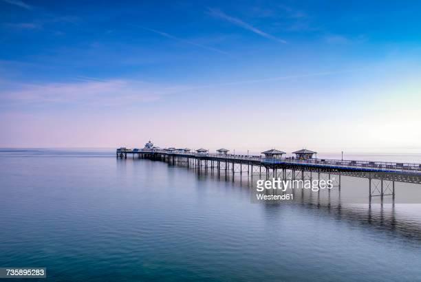uk, wales, llandudno, llandudno pier - gwynedd stock photos and pictures