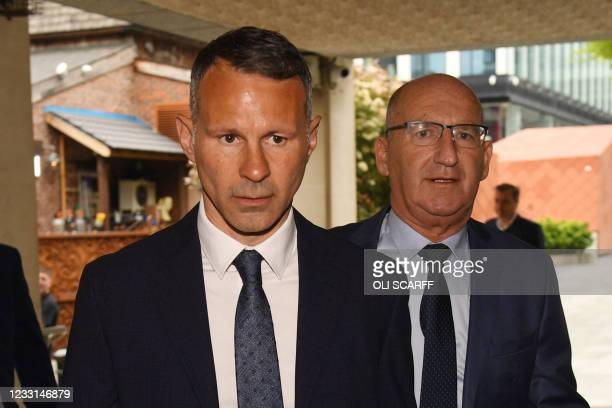 Wales manager and former Manchester United star Ryan Giggs arrives at Manchester crown court on assault charges in Manchester, northwest England on...