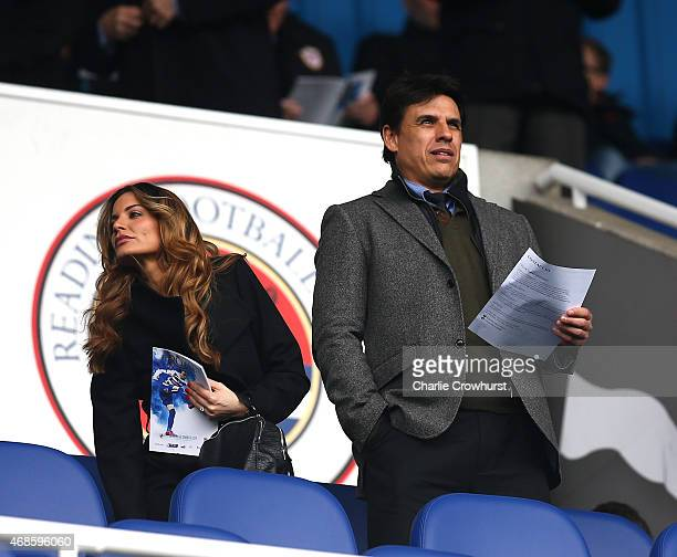 Wales manager Chris Coleman attends the match during the Sky Bet Championship match between Reading and Cardiff City at The Madejski Stadium on April...