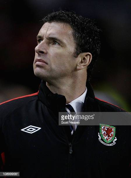 Wales manager Gary Speed during the Carling Nations Cup between Republic of Ireland and Wales at Aviva Stadium on February 8 2011 in Dublin Ireland