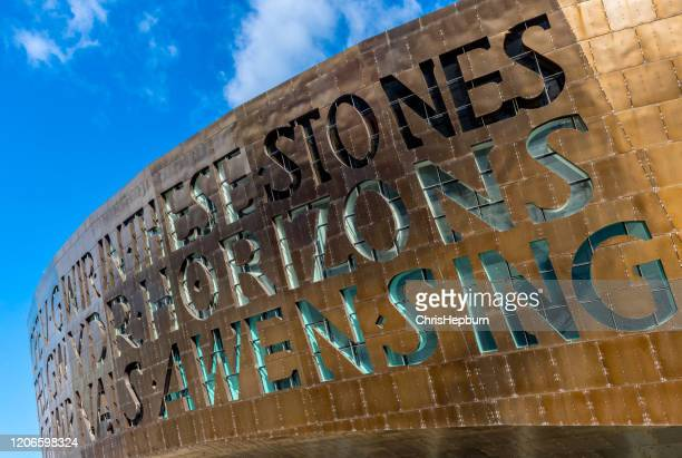 wales millennium centre, cardiff, wales, uk - welsh culture stock pictures, royalty-free photos & images